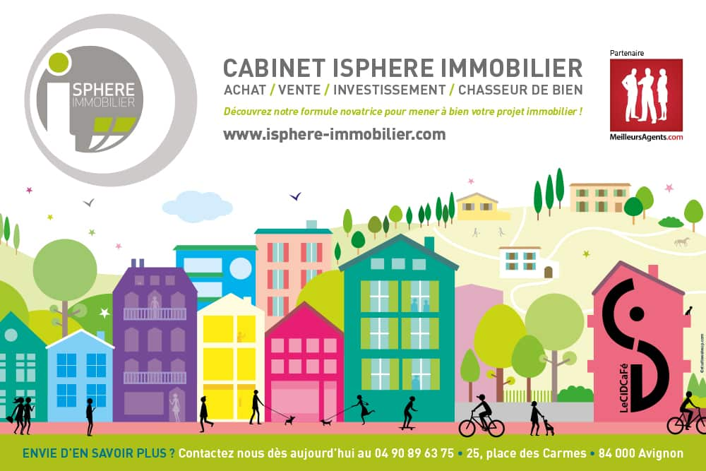 iSphere immobilier - set de table pour le Cid café
