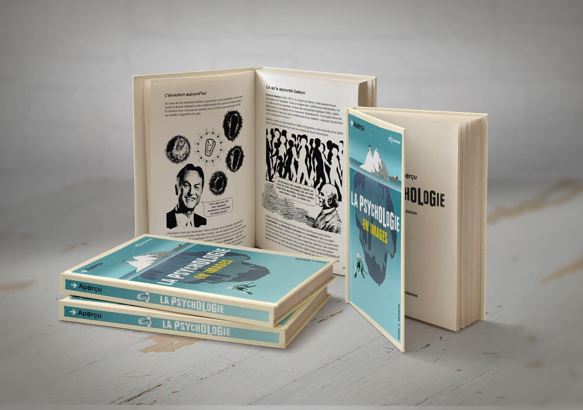 Mise en page de livre : collection Aperçu - la psychologie