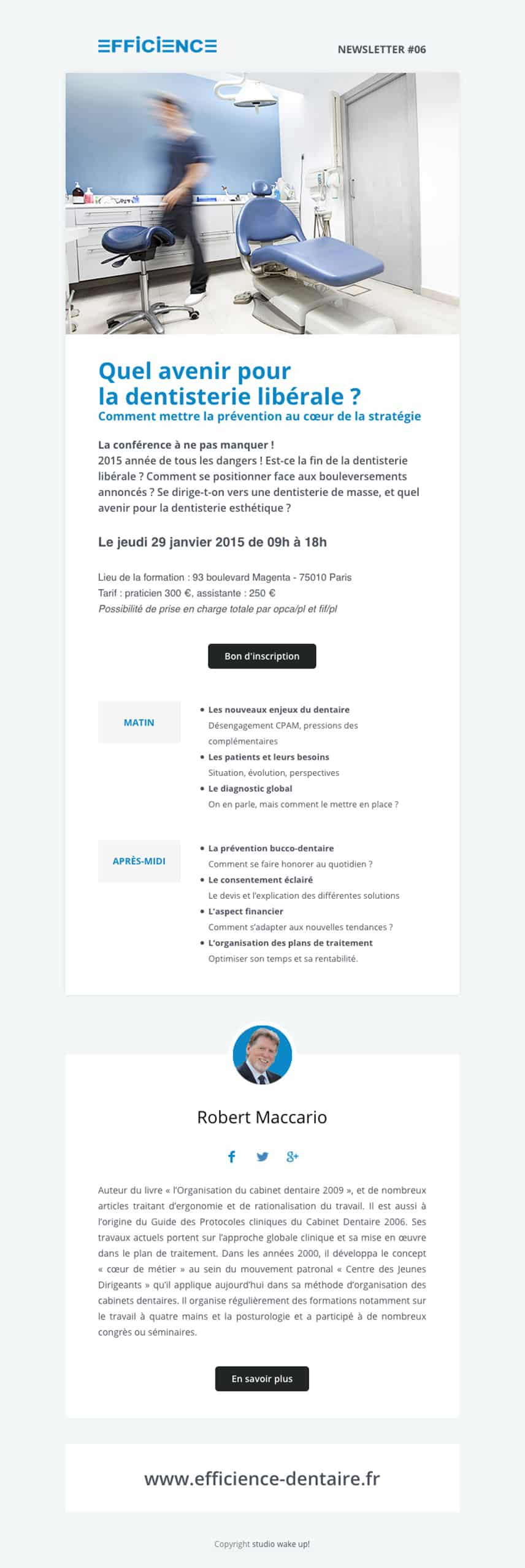 Création de la newsletter Efficience #06