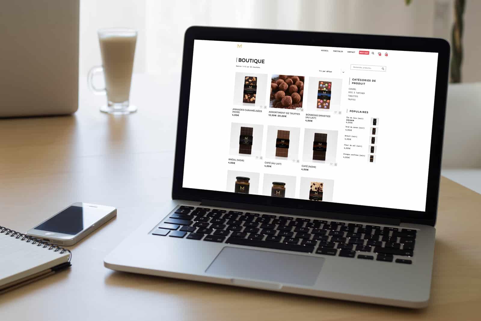 boutique de chocolat en ligne Mathieu Taborcia