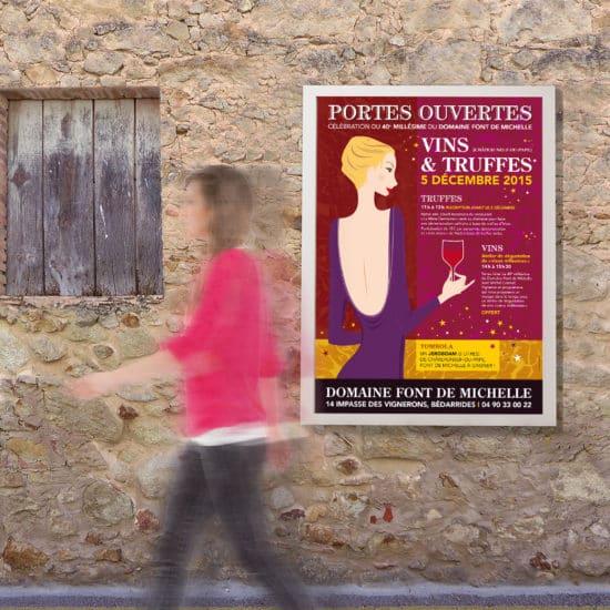 Affiche portes ouvertes 2015 - domaine viticole