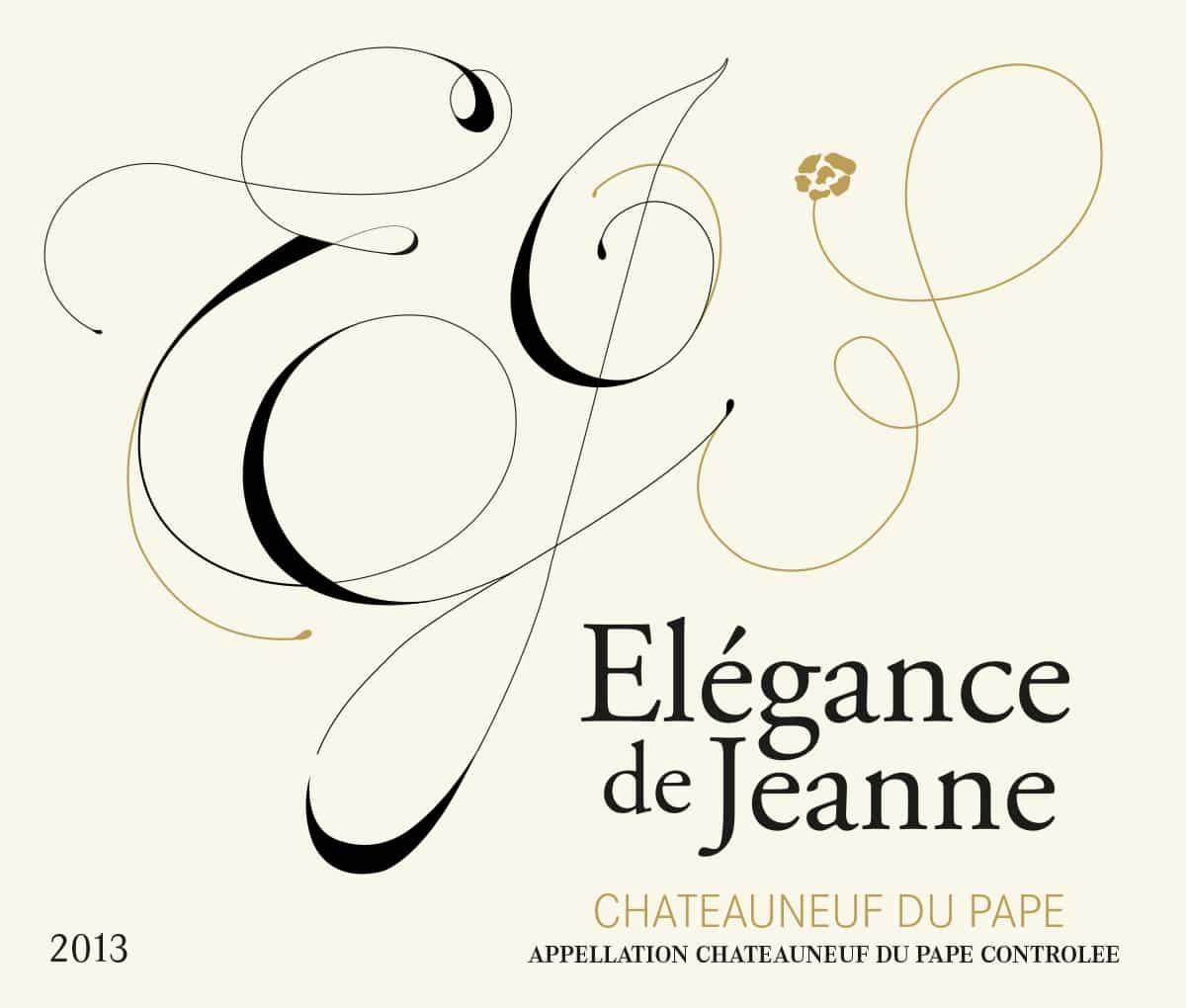 Étiquette de vin Châteauneuf-du-Pape