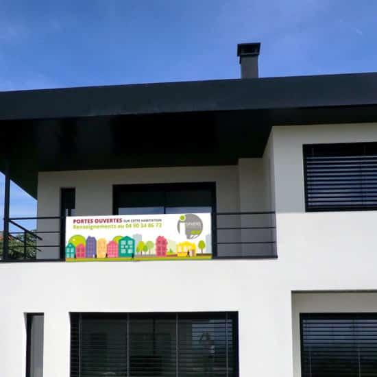 Bâche journée portes ouvertes agence immobilière