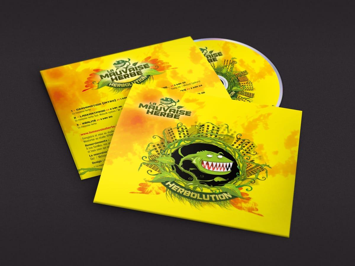Création d'un CD et de sa pochette - la mauvaise herbe