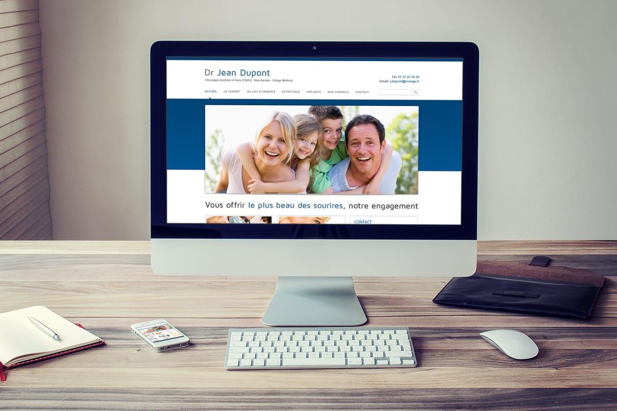 Création réseaux de sites internet pour des dentistes