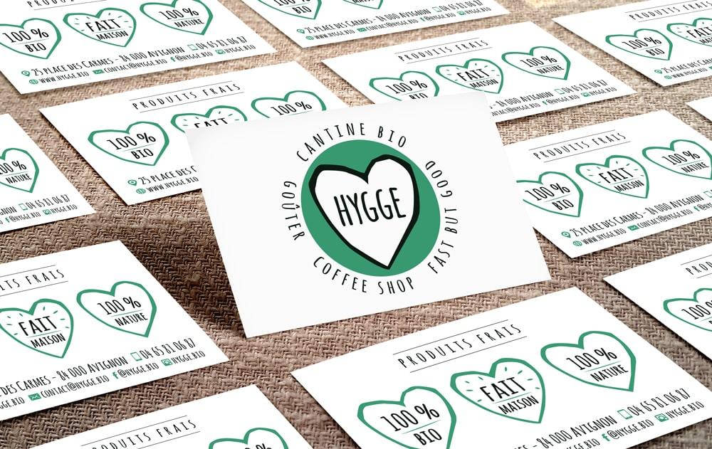 Hygge la cantine bio - identité graphique et logo