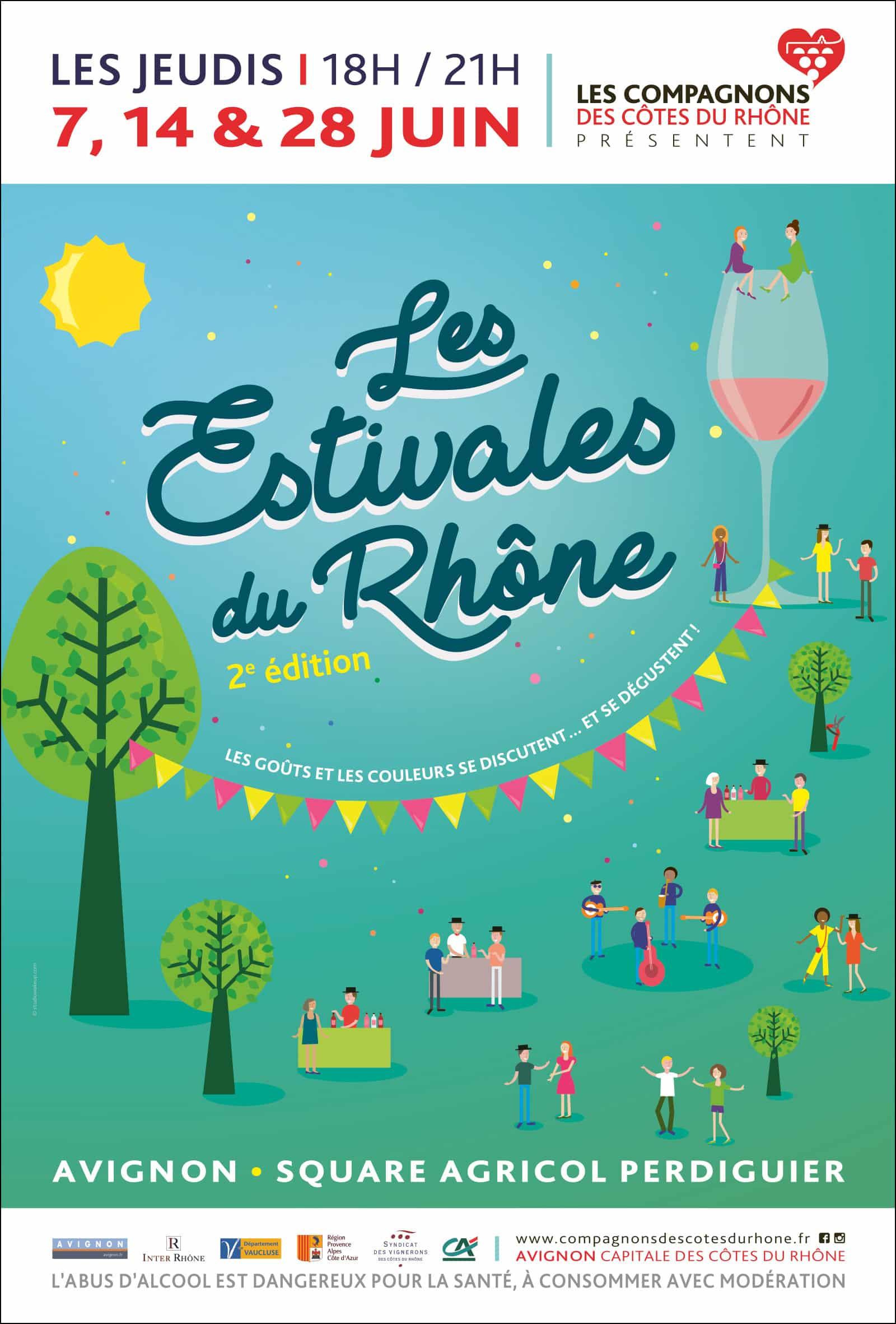 Les Estivales du Rhône 2018 - affiche